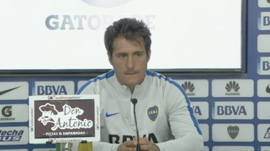 Barros Schelotto en conferencia: